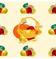 Seamless texture fruit basket vector image