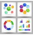 Set of charts with abstract triangles vector image vector image