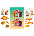 set of icons for a bakery two bake shop freshly vector image