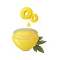 set olives fruit olive oil and branch vector image vector image