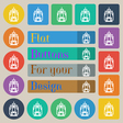 skyscraper icon sign Set of twenty colored flat vector image vector image