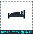 Sleep icon flat vector image vector image