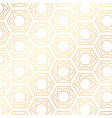 star and hexagon shapes golden pattern background vector image