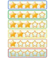 sticker design for yellow stars vector image