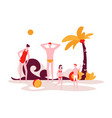 summer vacation - modern flat design style vector image