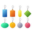 tag label badge set a set of colorful tag with vector image