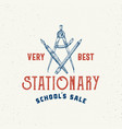 very best school stationary abstract sign vector image vector image