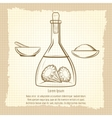 Vintage sketch of science lab equipment vector image vector image