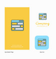 website company logo app icon and splash page vector image vector image