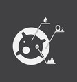 white icon on black background satellite and vector image vector image