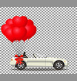 white modern opened cartoon cabriolet car with vector image vector image
