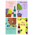 winemaking and wine bar promotional posters set vector image vector image