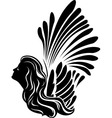 Winged muse symbol vector image vector image