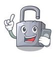 with phone character padlock on the wooden door vector image