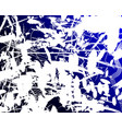 grunge background blue and white vector image