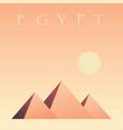 pyramids of egypt pyramids of giza symbol of egypt vector image