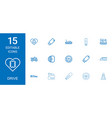 15 drive icons vector image vector image