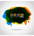 Abstract colorful background Splotch creative vector image vector image