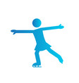 abstract skate dancing symbol vector image