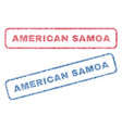 american samoa textile stamps vector image vector image