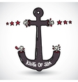 Anchor doodle vector image