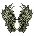 angelic hand drawn wings vector image vector image