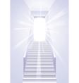 Ascension on a ladder vector image