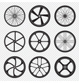 bike wheels motor bicycle round shapes circle vector image vector image