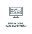 binary code data encryption line icon vector image