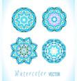blue mandala set vector image