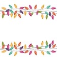 border with extension cord lights christmas vector image vector image