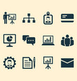 business icons set collection of payment vector image vector image