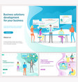 business solution for development landing page vector image vector image