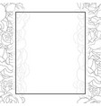carnation flower outline banner card border vector image vector image