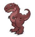 cartoon tyrannosaurus vector image vector image