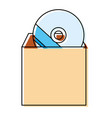 cd rom icon image vector image