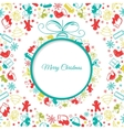 Christmas ball background abstract vector image