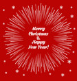 christmas card with firecracker vector image