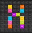 colorful brick block letter x flat design vector image vector image