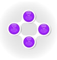 colorful round diagram metaball infographics vector image