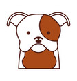 cute dog mascot icon vector image vector image