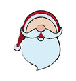 cute face santa claus christmas character vector image