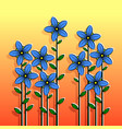 decorative stylized colorful flowers vector image vector image