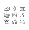 doodle multimedia icons vector image