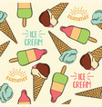 doodle seamless pattern with ice cream vector image vector image