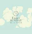 easter banner with words on the sky with clouds vector image vector image