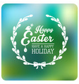 Easter Typographical Background Flat design vector image vector image