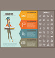education infographic template elements and icons vector image vector image
