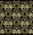 embroidery striped 3d baroque seamless pattern vector image vector image