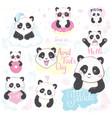 emoji panda vector image